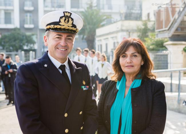 il Comandante Gennaro Pappacena e la Dirigente Manuela Germani