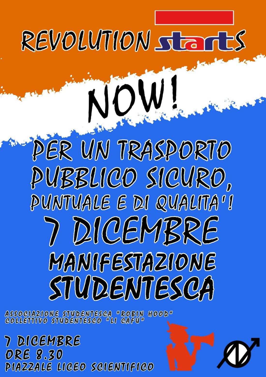 """Robin Hood, """"Revolution Starts now"""" contro il disagio del trasporto pubblico per gli studenti"""