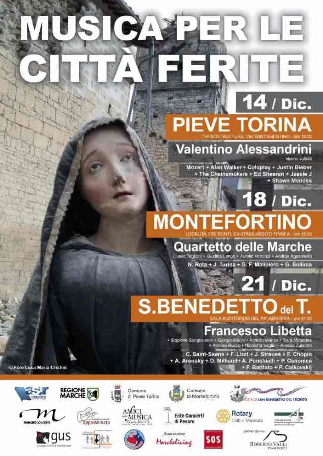 Musica città ferite, Calendario concerti