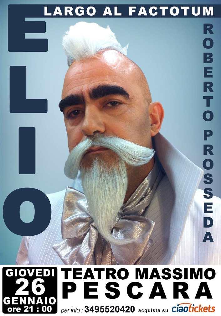 """Elio con il concerto """"Largo al Factotum"""" al Teatro Massimo di Pescara"""