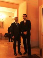 Il Presidente della Provincia di Ascoli Piceno Paolo D'Erasmo e il Presidente di Confindustria Ascoli Simone Mariani