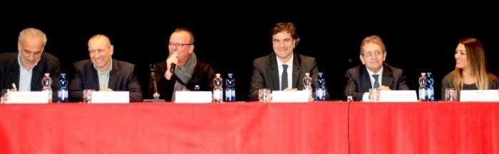 da sx Giulio Silenzi, Tommaso Corvatta, Gigi D'Alessio,Giancarlo Schieri, Massimo Ciampa e YleniaBaccaro