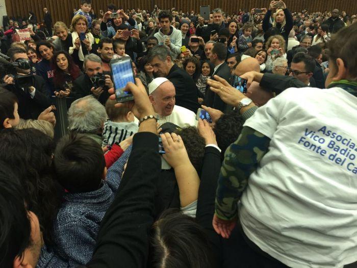 Papa Francesco incontra le comunità colpite dal sisma