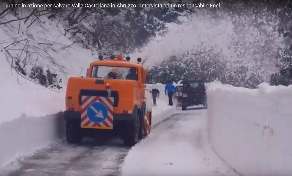 Turbine in azione a Valle Castellana in Abruzzo – Video