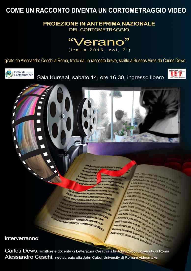 """Alessandro Ceschi, """"Verano"""": come un racconto diventa un cortometraggio video"""