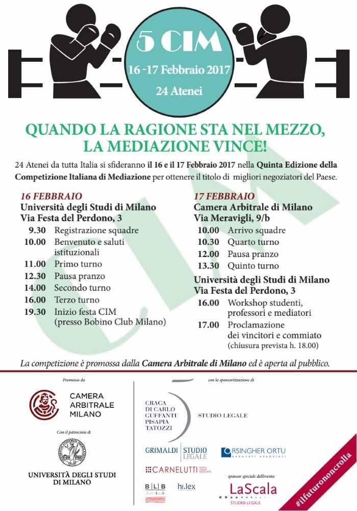 UniUrb: studenti di Giurisprudenza in gara allaCompetizione Italiana di Mediazione