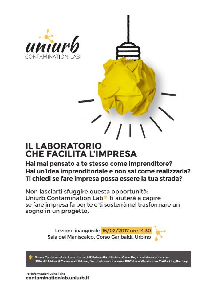 Giovedì 16 febbraio è il giorno di UniUrb Lab