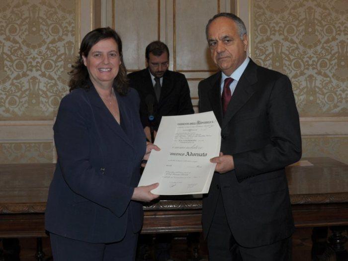 Francesco Adornato nominato Commendatore all'Ordine della Repubblica