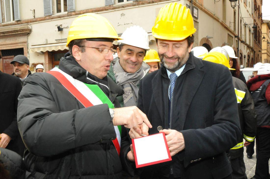 La visita del ministro Dario Franceschini a Camerino