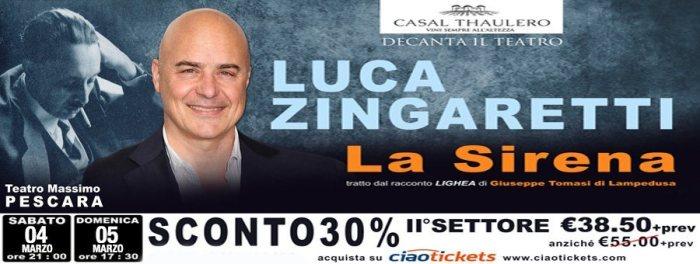 """Zingaretti, """"La Sirena"""""""