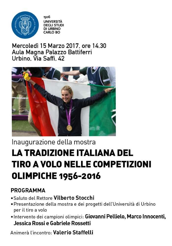 """""""La tradizione italiana del Tiro a Volo nelle competizioni olimpiche 1956-2016"""" all'UniUrb"""