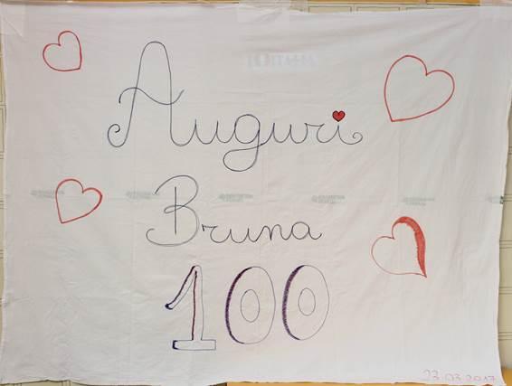 Nonna Bruna festeggia i 100 anni all'Inrca