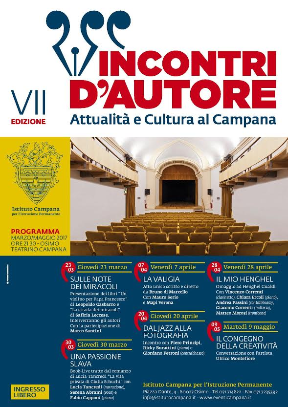 """Incontri d'autore, """"Una passione slava"""" al Teatrino Campana"""