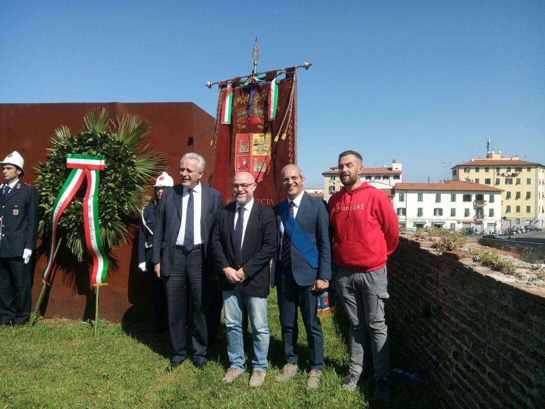 Delegazione della Provincia Ap alla commemorazione del Moby Prince a Livorno