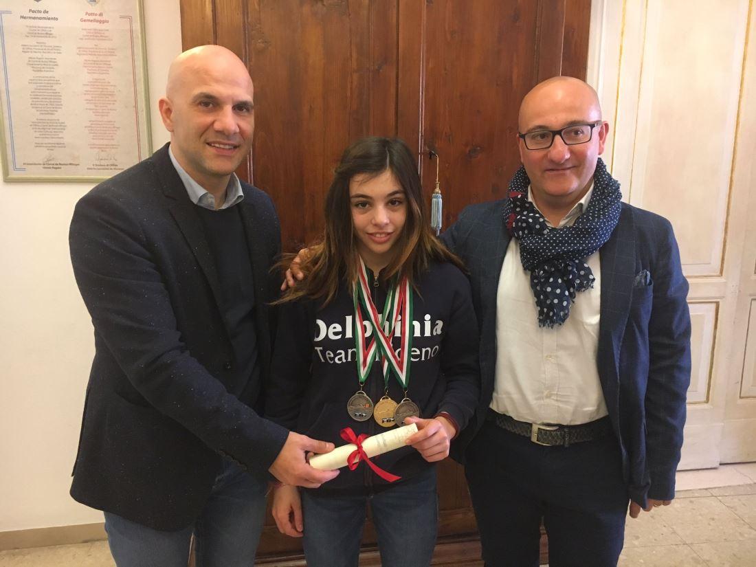 Un riconoscimento per la nuotatrice Lisa Maria Iotcu, dal Comune di Offida