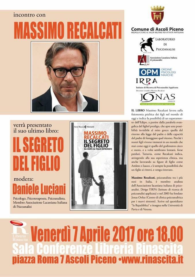 """Massimo Recalcati, """"Il segreto del figlio"""""""