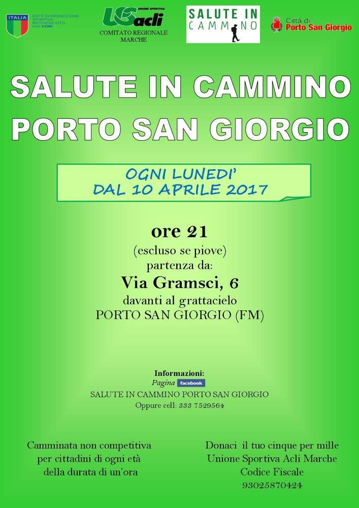 """Riprende l'iniziativa  """"Salute in cammino"""" a Porto San Giorgio"""