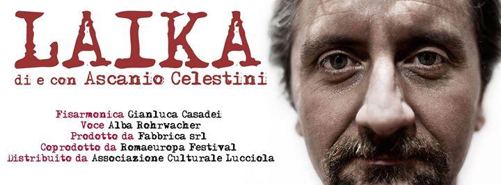 """Ascanio Celestini nelle Marche con """"Laika"""": doppio appuntamento a Civitanova e Fano"""
