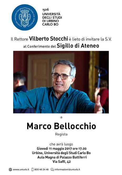 Università di Urbino, il Sigillo di Ateneo al regista Marco Bellocchio