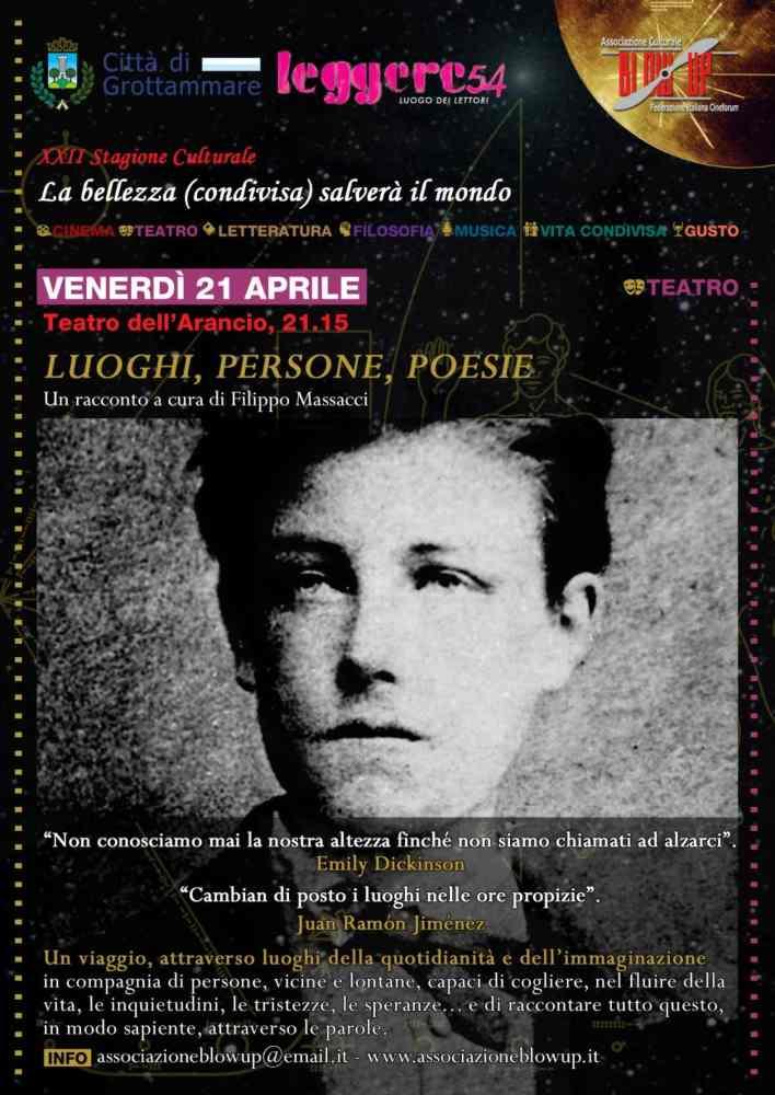 Luoghi, Persone, Poesie al Teatro dell'Arancio