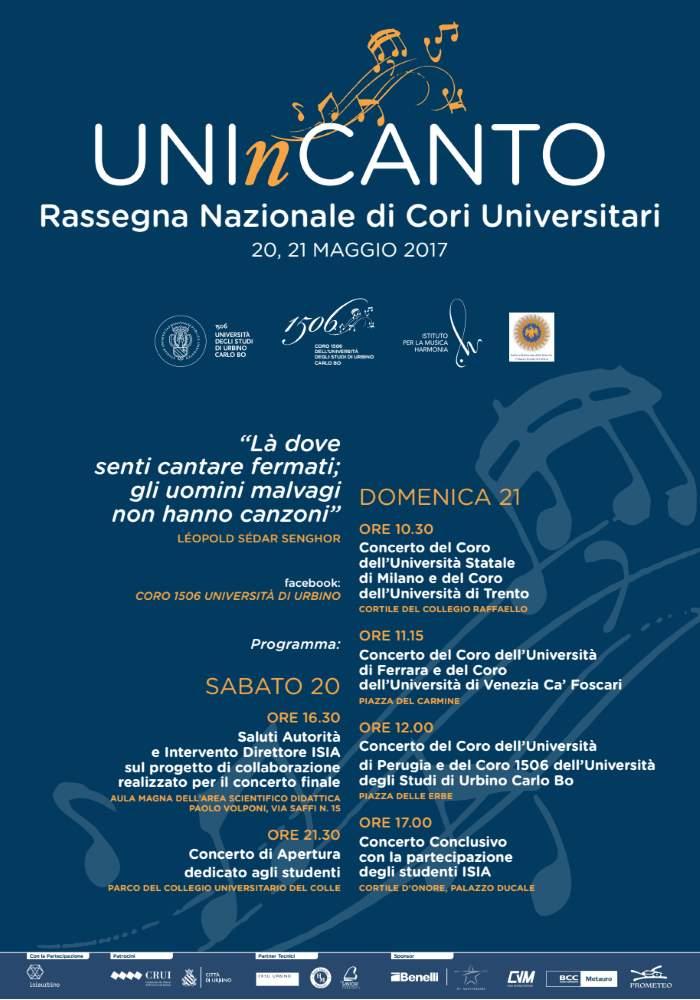 Torna a Urbino UnInCanto