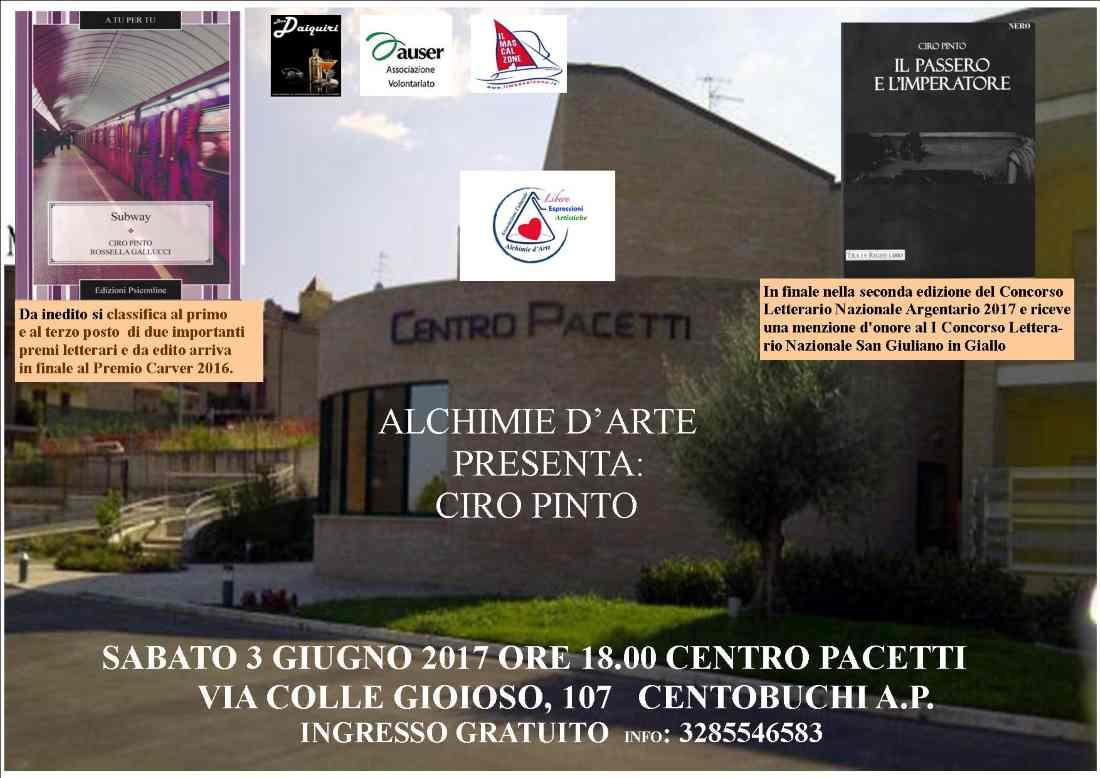 Ciro Pinto al Centro Pacetti di Centobuchi