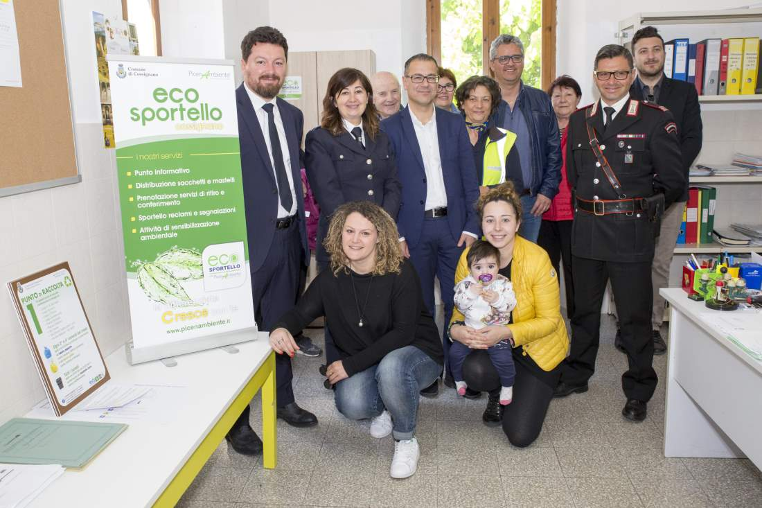 Inaugurato l'Ecosportello  informativo a Cossignano