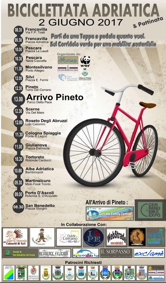 """Anche quest'anno si terrà la """"Biciclettata Adriatica"""""""