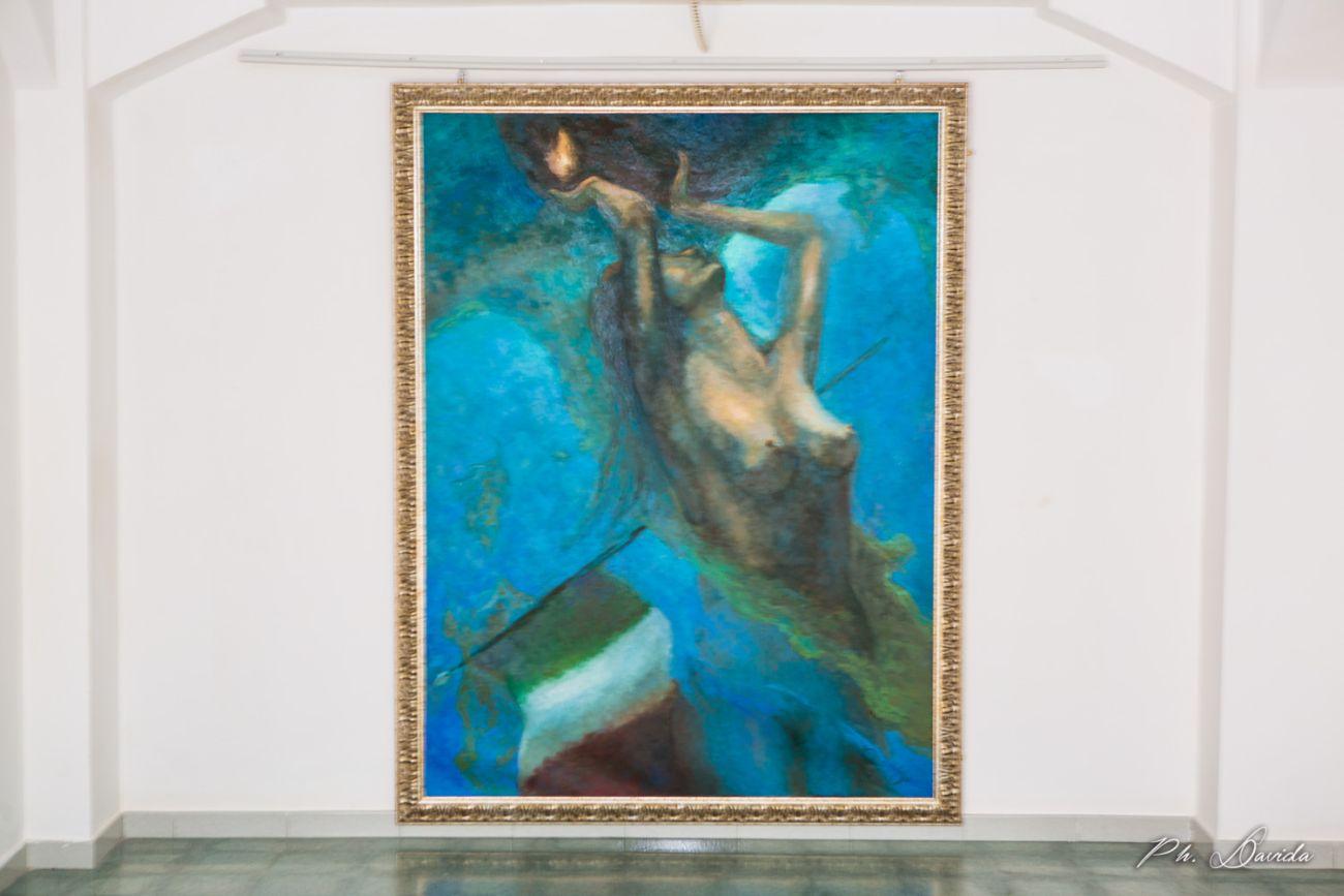 """""""il mare il mio specchio"""": inaugurata la mostra di Alessandra Peloso alla Palazzina Azzurra"""
