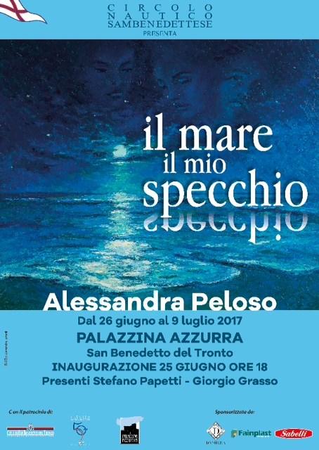 """Il Cns presenta Alessandra Peloso """"il mare il mio specchio"""""""