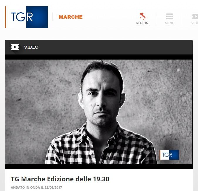 "Pierluigi Lucadei, ""Letture d'autore"" a 'Scaffale' Tgr Marche"