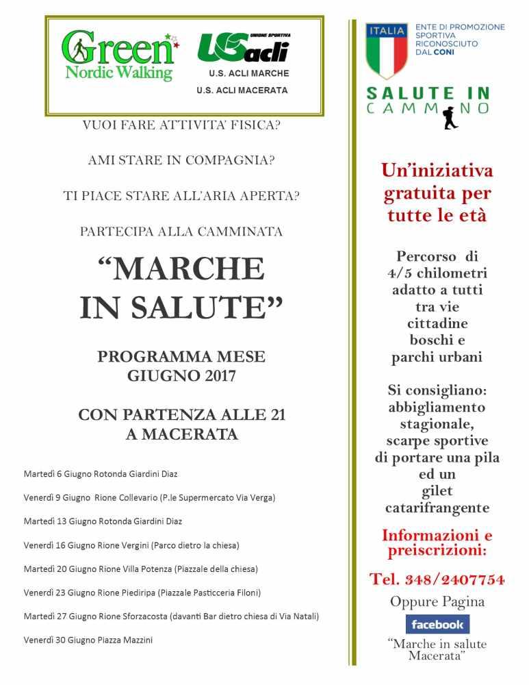 """Tutto pronto per il via a """"Marche in salute"""" a Macerata"""