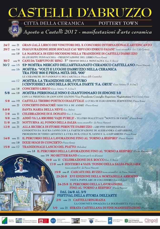 Agosto a Castelli 2017