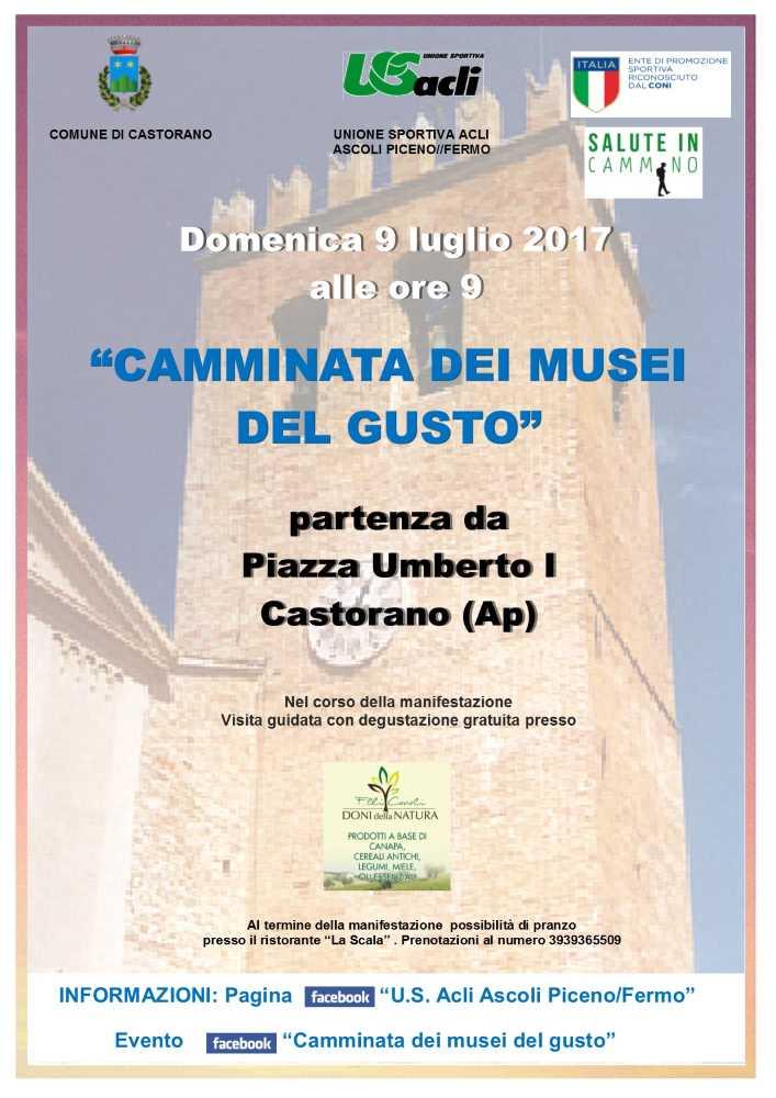 """""""Camminata dei musei del gusto"""" a Castorano"""