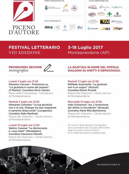 Massimo Cacciari apre Piceno d'Autore