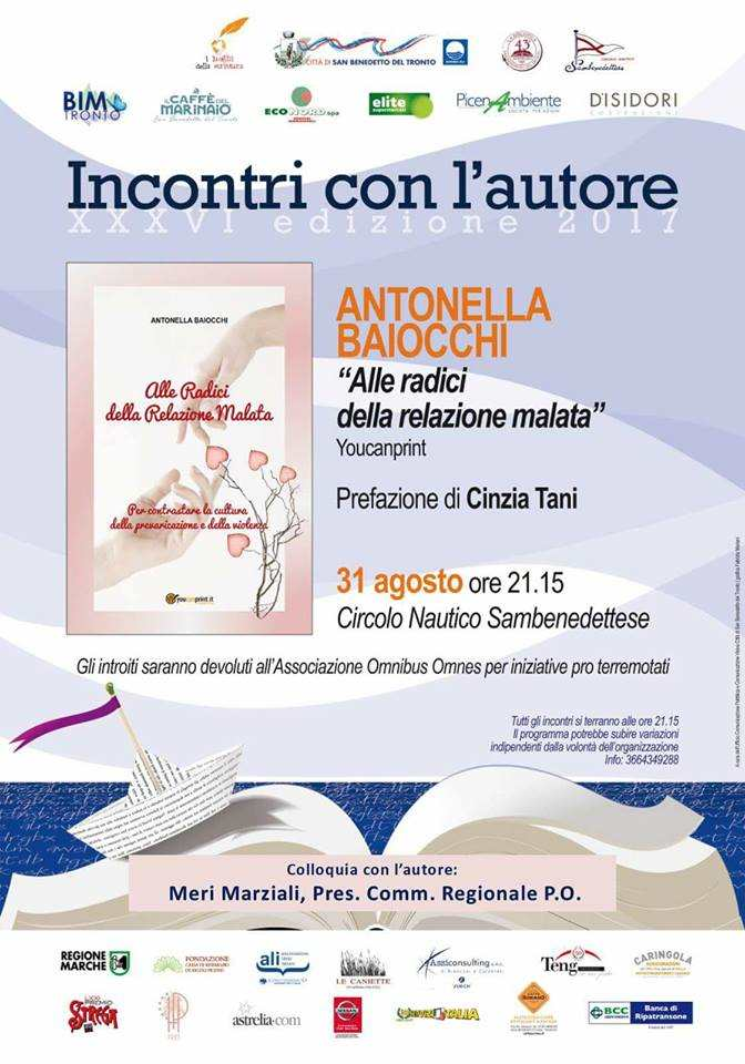"""Antonella Baiocchi, """"Alle radici della relazione malata"""""""