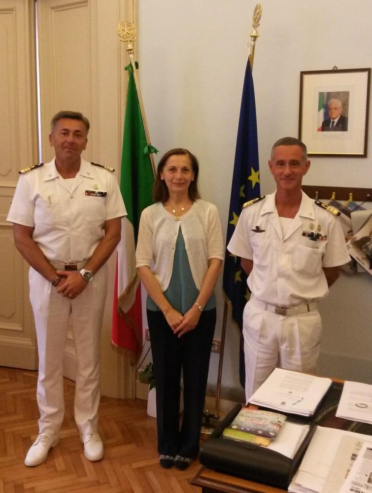 Il Prefetto di Fermo Di Lullo riceve il nuovo comandante della Capitaneria di Porto