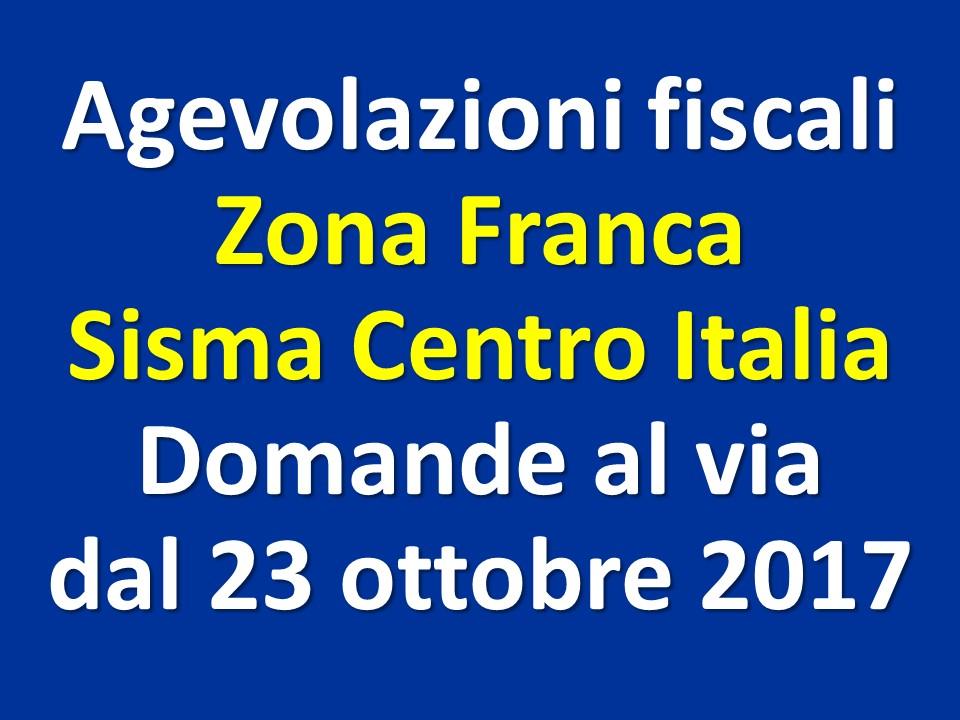 Sisma centro Italia: agevolazioni fiscali della Zona Franca