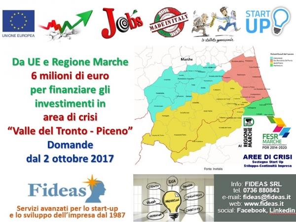 Bando regionale area di crisi del Piceno