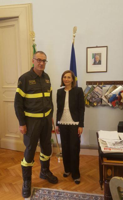 Il Prefetto Di Lullo ha ricevuto il nuovo Comandante Provinciale dei Vigili del Fuoco