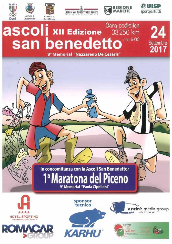 12a Podistica Ascoli – San Benedetto e 1a Maratona del Piceno