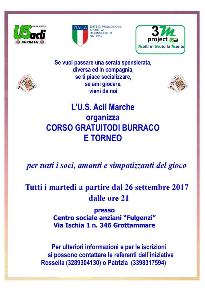 """Al Centro sociale """"Fulgenzi"""" di Grottammareproseguono il corso gratuito ed tornei di burraco"""