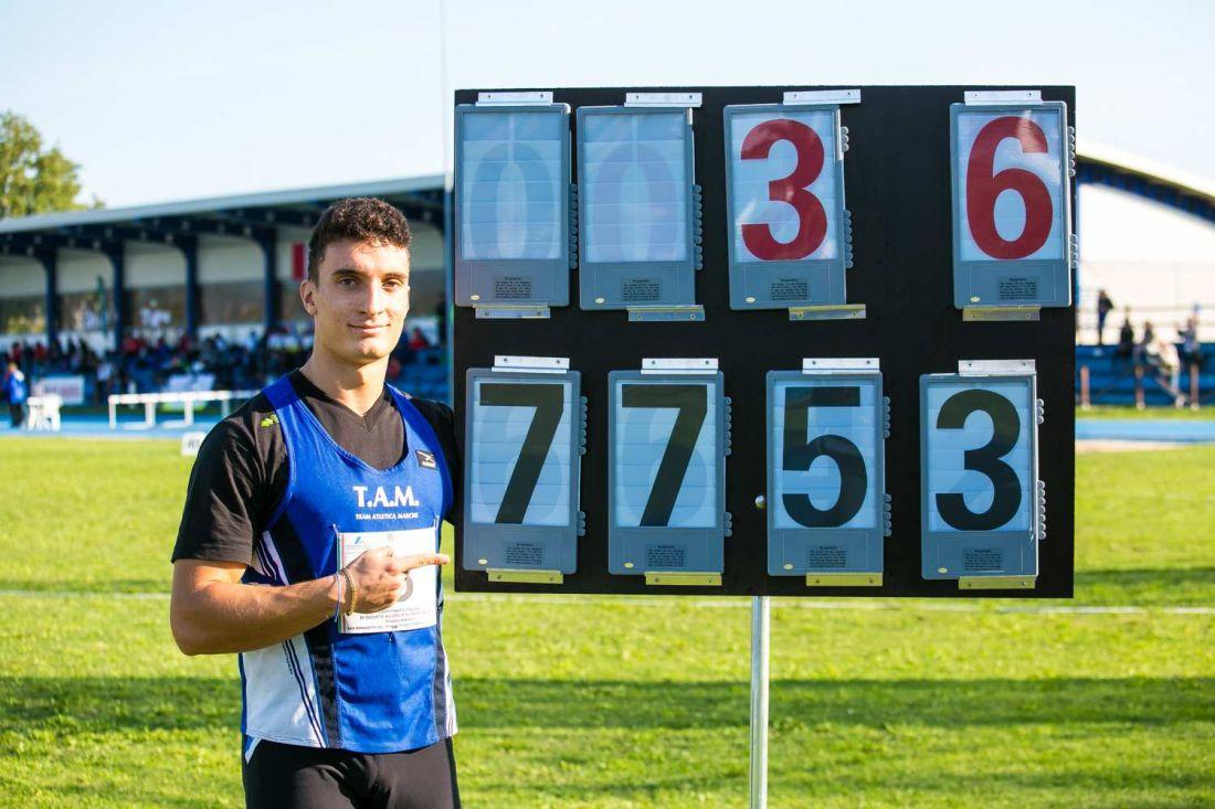 Giorgio Olivieri bis, record italiano U18 a San Benedetto