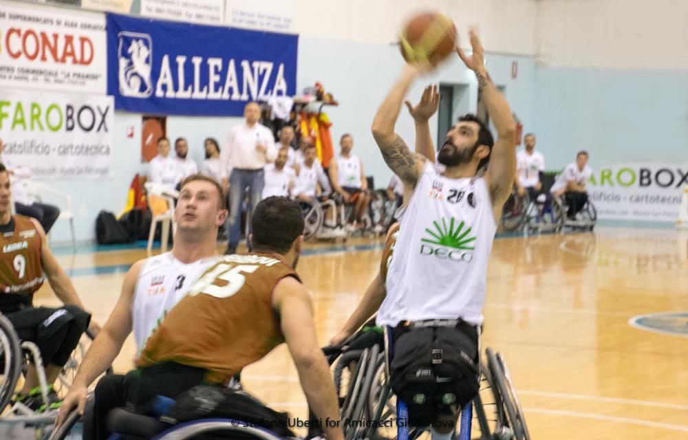Basket in carrozzina serie A: l'Amicacci cala il poker, Gradisca va ko