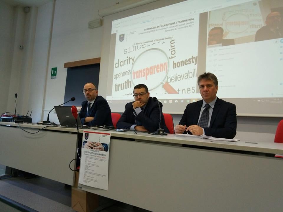UniCam e IuaV insieme per un corso di formazione su Trasparenza e Anticorruzione
