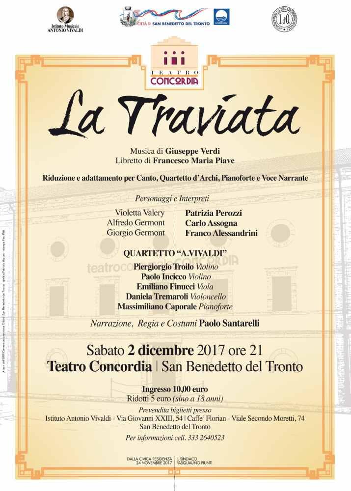 La Traviata di Giuseppe Verdinel cartellone Natalizio 2017