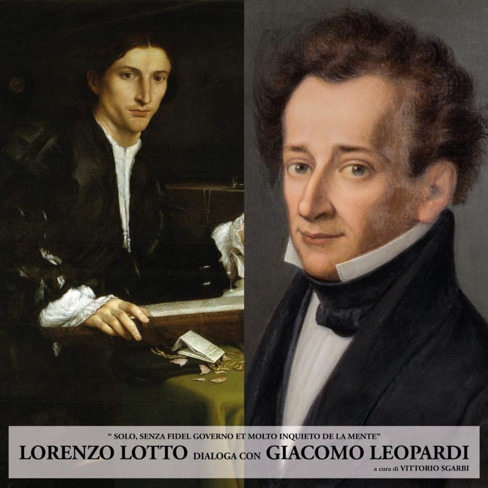 """A Recanati """"Lorenzo Lotto dialoga con Giacomo Leopardi"""" a cura di Vittorio Sgarbi"""