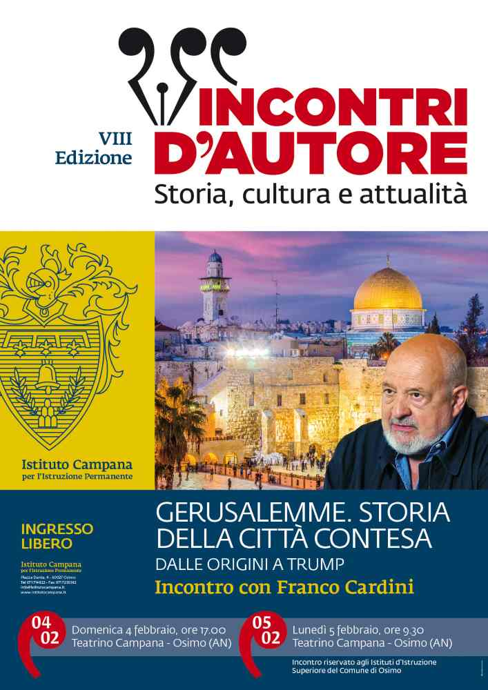 Franco Cardini torna a Teatrino Campana per un incontro sulla storia di Gerusalemme