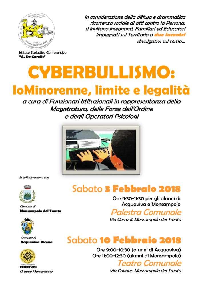 """Cyberbullismo e minori, """"IoMinorenne, limite e legalità"""""""