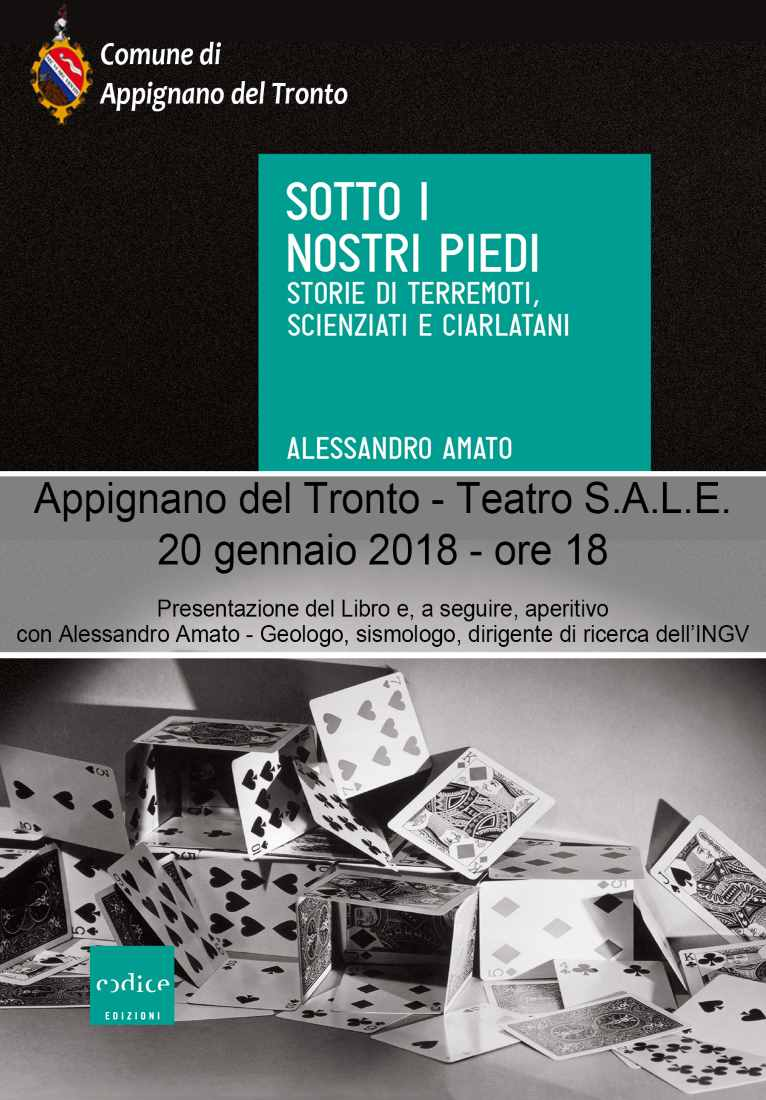 """Alessandro Amato: """"Sotto i nostri piedi"""" storie di terremoti, scienziati e ciarlatani"""